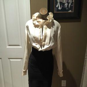 Tops - Ruffle blouse silk
